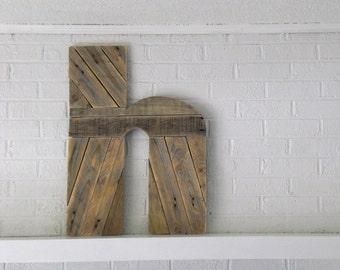 Wooden Letter H Custom Wood Monogram