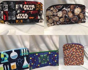 Small Waterproof Zipper Pouch Wet Bag - many prints available!