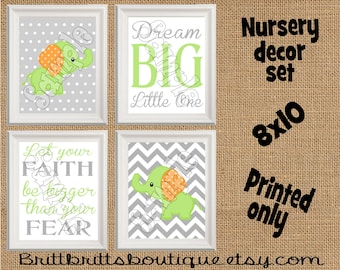 green elephant nursery wall art safari nursery wall decor Baby boy nursery decorations Nursery Decor Kids Wall Art Nursery artwork prints