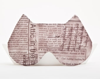 Cat Sleep Mask, Slumber Party, newspaper, Eye Mask Cover Comfortable Face Blindfold, mom gift, birthday gift, Valentine's Day gift