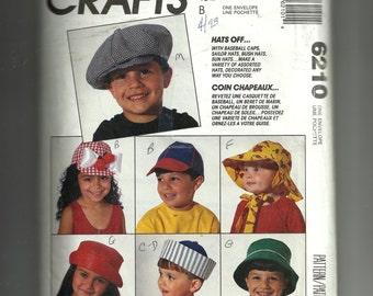 McCall's Children's Hats Pattern 6210