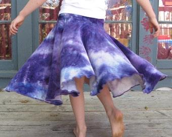 Girls Velour Skirt, Organic Bamboo Velour Skirt, Hand-dyed Skirt, Girls Twirl Skirt, Velour Twirl Skirt, Organic Girls Skirt, MADE TO ORDER
