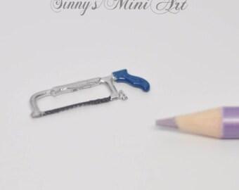 1:12 Dollhouse Miniature Saw, Hack/Miniature Tools IM 0172
