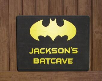 Batman Batcave Personalized Sign