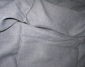 5 yards 45 wide Vintage Gray Gabardine Fabric for bowling shirts dress making