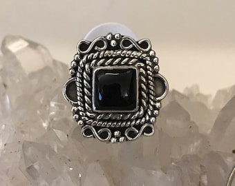 Black Onyx Ring Size 6