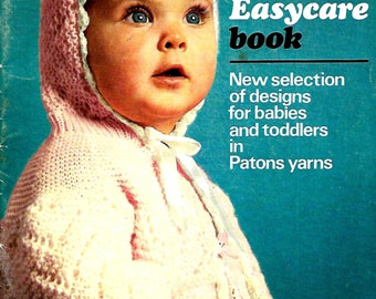 PATONS 2nd EASYCARE Vintage Baby Knit/Crochet Book