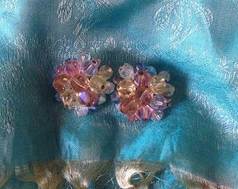Lovely BOREALIS Earrings~Clip On
