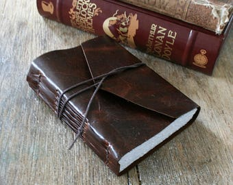 """Leather Journal . """"Fill your paper with the breathings of your heart."""" -William Wordsworth . dark brown . handmade handbound (320pgs)"""