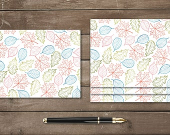 Rainbow Leaves Flat Card Set 4x5