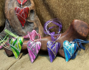 SALE #HonorSacrifice ~ 5 Colors ~ Stunning Bold Heart Necklace