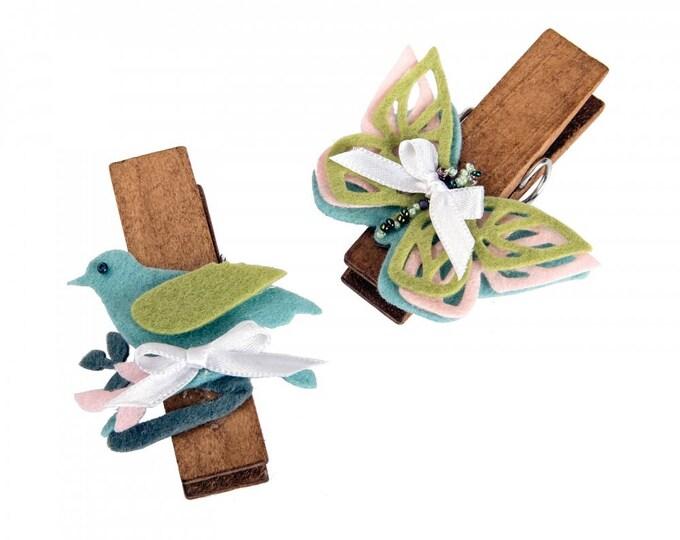 Sizzix Thinlits Die Set 6PK - Birds & Butterflies by Eileen Hull 661901