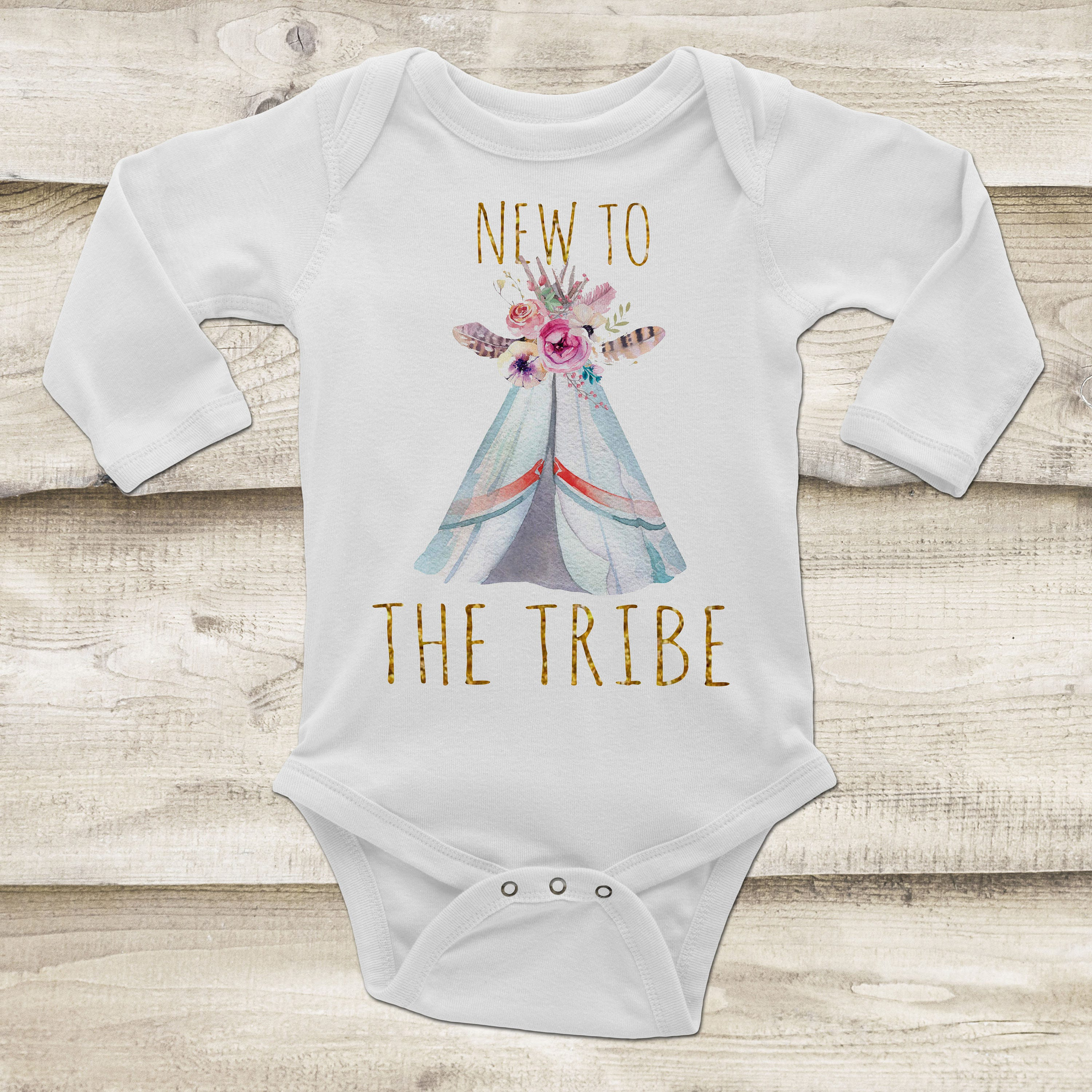 New To The Tribe New Baby Outfit Boho Baby Girl Clothes Wel e