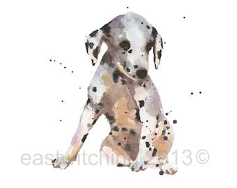 Funny art, DALMATIAN Art, dalmatians, dots, spots, spotted, cute puppy, nursery art