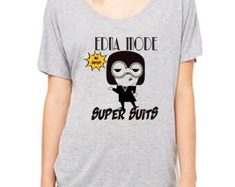 Ladies Slouchy Tee Edna Mode Super Suits Incredibles Shirt Disneyland Shirt Disney World Shirt womens shirt  Magic Kingdom Tee