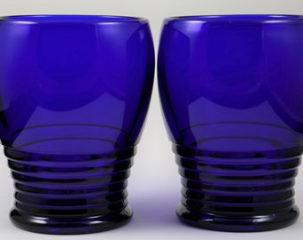 Cambridge, Tally Ho Line No. 1402, Royal Blue, Wine Stem