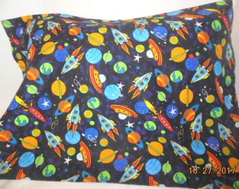 Planets, Rockets and Space Ships Pillowcase