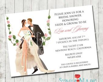Couples Bridal Shower Invite