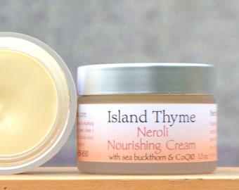 Neroli Face Cream. The perfect anti-aging day cream. Essential fatty acids, anti-oxidants & the extract of pure orange blossoms!  1.5oz jar.
