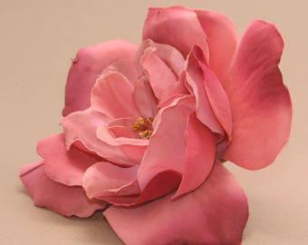 Layered Mauve Pink Magnolia - Artificial Flower, Silk Flower Head