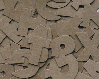 """81 Alphabets, Alphabet Letters, Block Letters, Card Stock Letters, Die Cut Letter, A to Z,  1"""" Tall"""