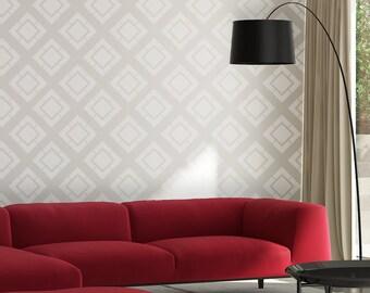 Gilbert Allover reusable Stencil patterns for walls just like wallpaper DIY deco
