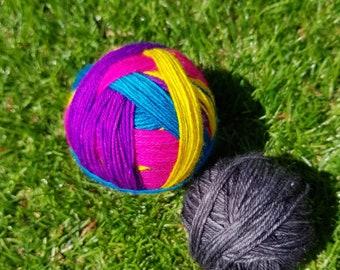 Groovy Girls,self striping sock yarn.