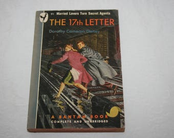 Vintage Paperback Book, The 17th Letter, by Dorothy Cameron Disney, 1947