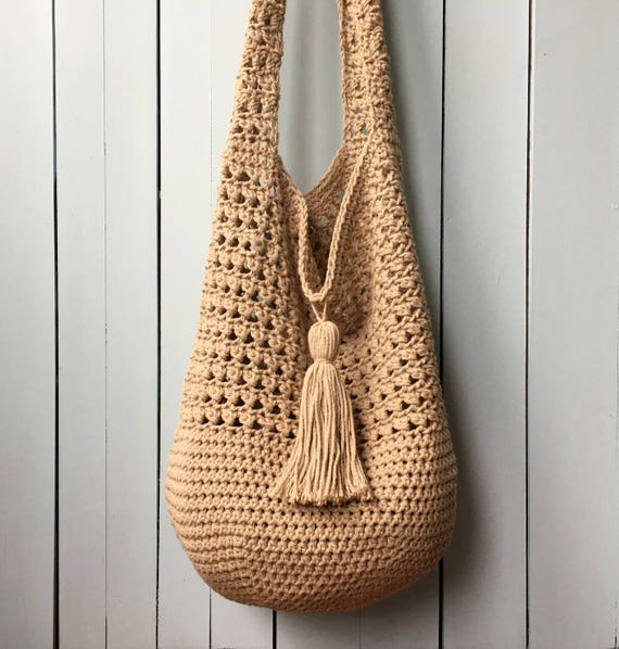 Crochet Tote Bag PATTERN, Bucket Bag Crochet Pattern, Boho Crochet ...