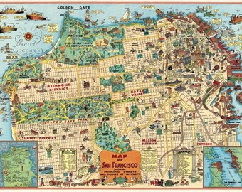 Cavallini San Francisco Map Paper