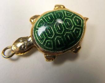 Cloisonné turtle pendant
