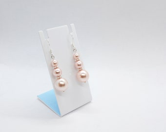 Swarovski Pearls | Dangle Earrings | Silver Plated