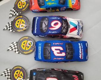 NASCAR Speedie Beanie Collectable Cars 4 in set