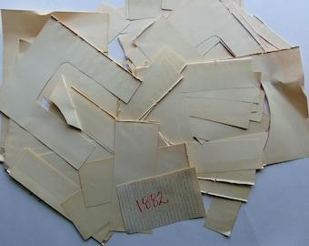 1882 Antique Paper Scraps
