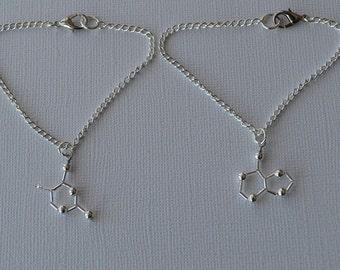 Biolojewelry - MINI BFF DNA Base Pair Bracelets - Thymine & Adenine