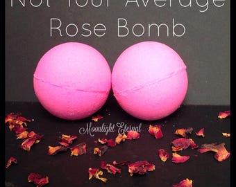 Rose Bath Bomb - Rose Fragrance - Not Your Average Rose Sparkle Bomb - Handmade Bath Bomb