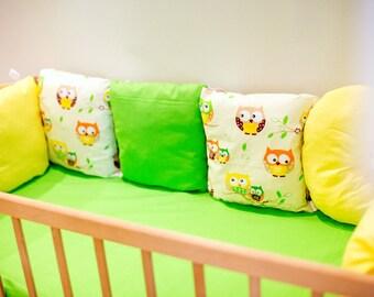 crib bumper/newborn bedding set