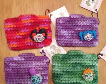 Mini Super Awesome All Purpose Crochet Pouch - Zombies - your choice!