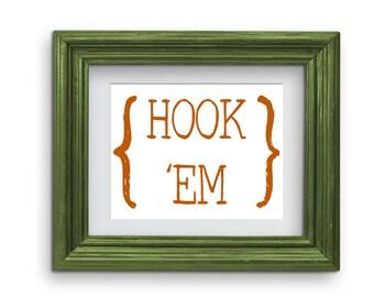 Hook 'Em Horns Print (University of Texas) {Digital}