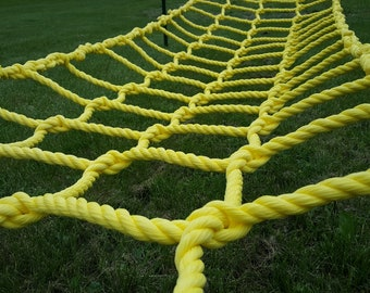 "Climbing net cargo net made from 3/4"" heavy duty poly rope Choose a size"