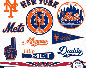 New York Mets baseball team, baseball league, baseball logo, STS-018
