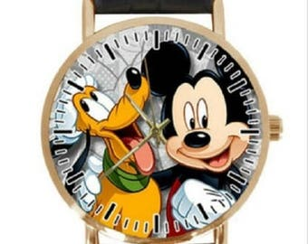 Mickey Mouse and Pluto Character Strap Quartz Watch