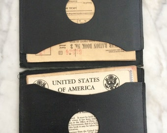 War Ration Booklets and Holder World War Two
