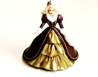 Holiday Barbie Ornament, 1996 Victorian Style Barbie Doll Christmas Hallmark Keepsake Collectible Ornament, 4th in series itsyourcountry
