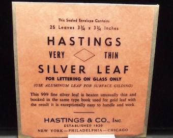Silver Leaf | Hastings Fine Silver Leaf | Lampwork Supplies | Fine Silver Leaf | Gilding | Vintage Silver Leaf | .999 Fine Silver