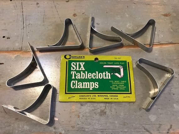 Vintage Coghlans Tablecloth Clamps Camping or Picnics
