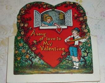 A Love Song to My Valentine Vintage BEISTLE Valentine Card