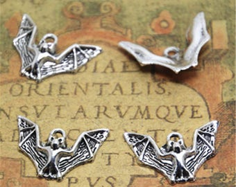20pcs bat Charms Silver Tone bat charm pendants 23x17mm ASD1929