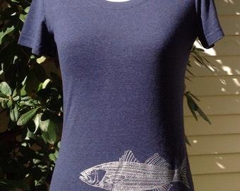 Striper Bass Navy T-Shirt