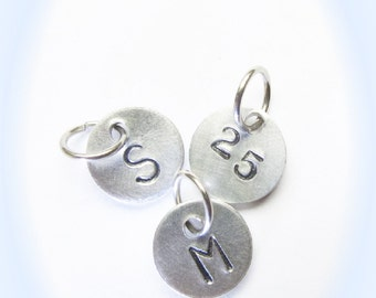 Half Inch Round Charm to add an Initial or Number